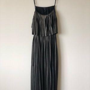 Metallic Polyester Maxi Dress